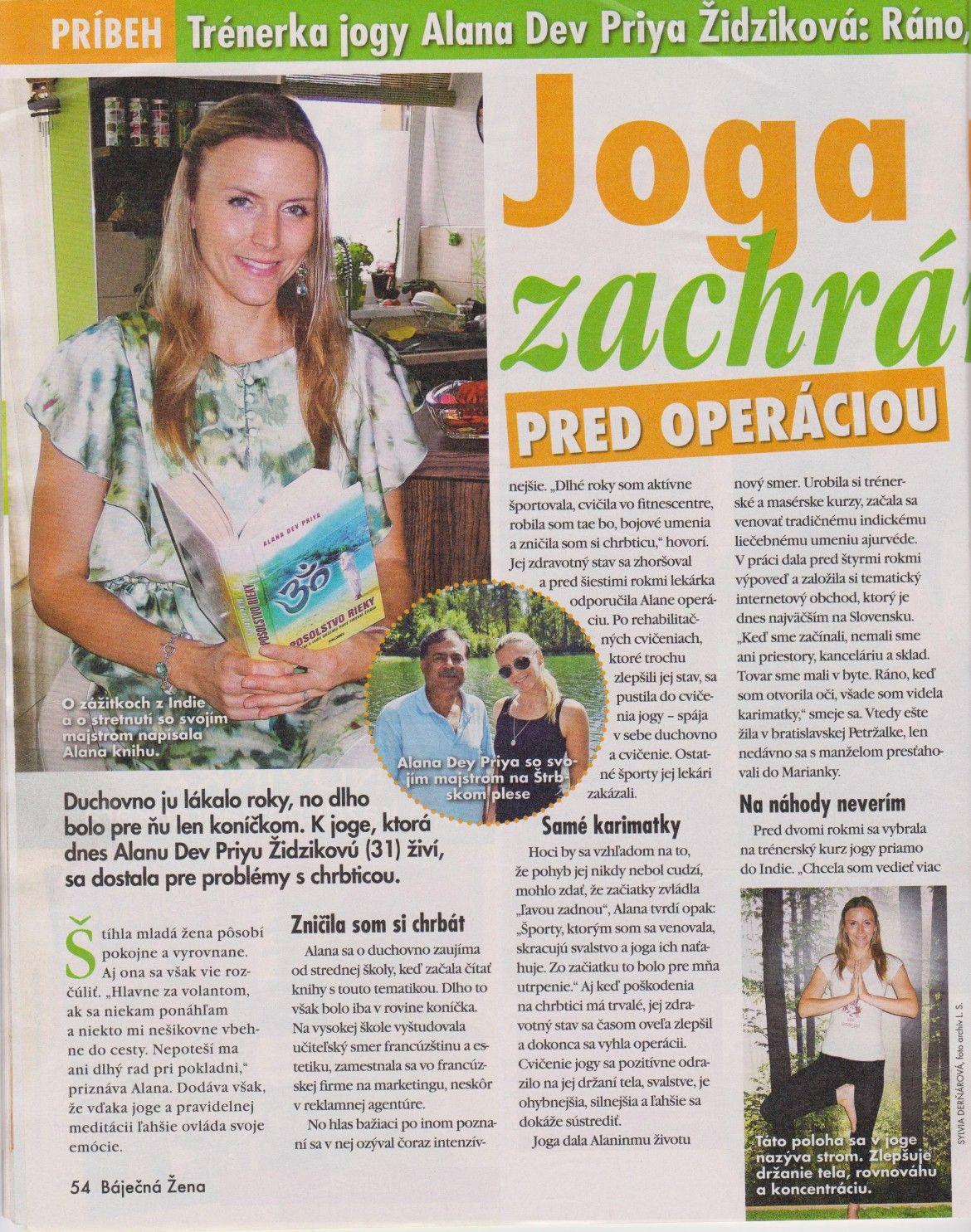 Interview pre časopis BÁJEČNÁ ŽENA – júl 2014