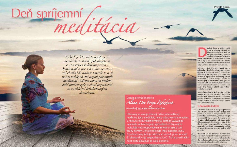 Deň spríjemní meditácia