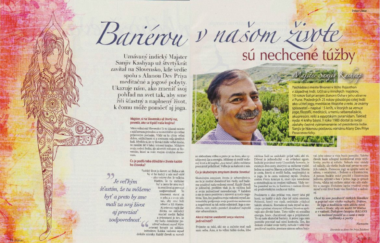 Interview s Majstrom Sanjivom Kashyapom