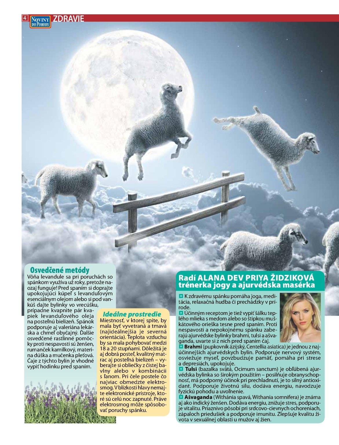 Rady proti nespavosti pre NOVINY DO POHODY č.2/2013