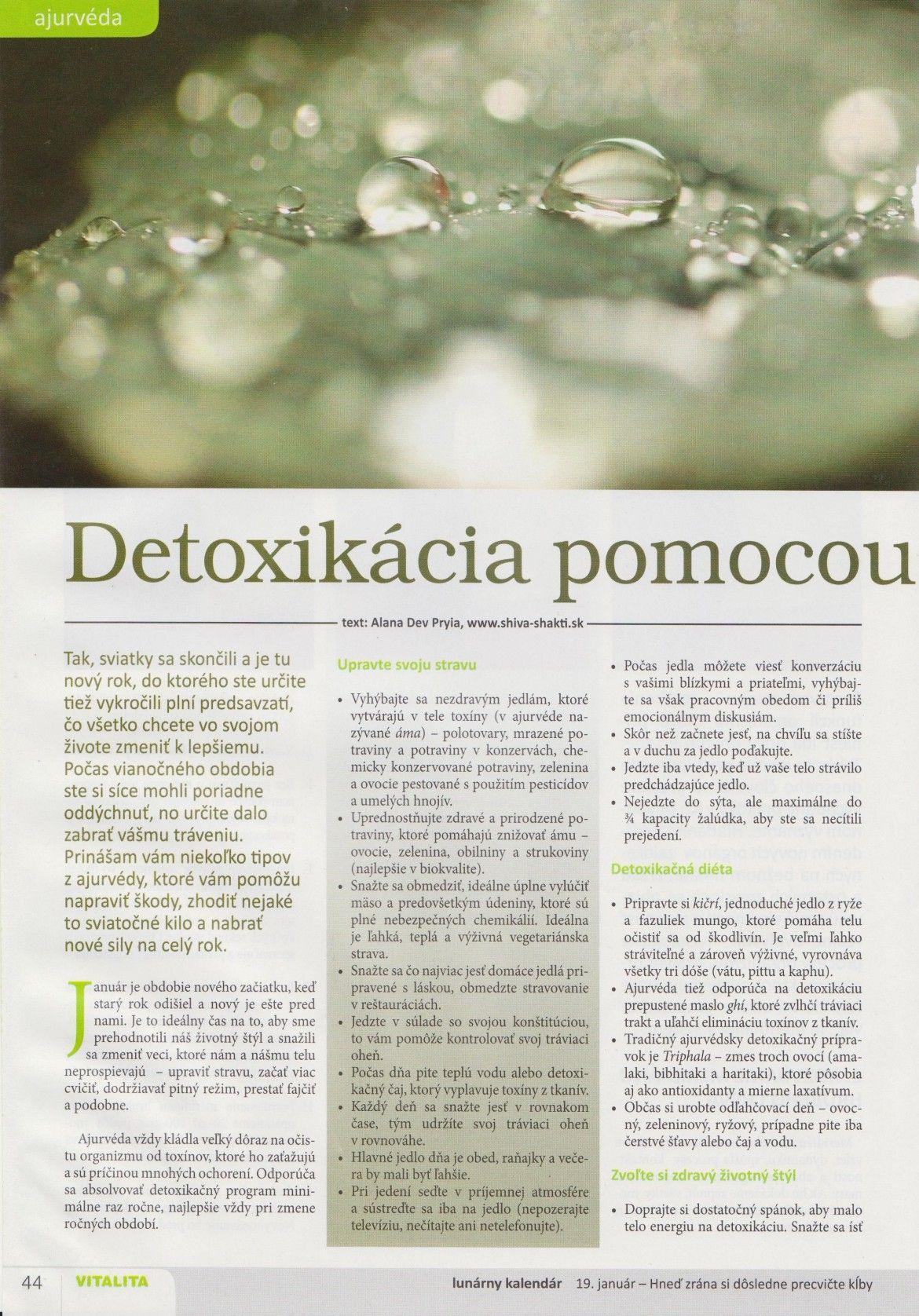 Detoxikácia pomocou ajurvédy
