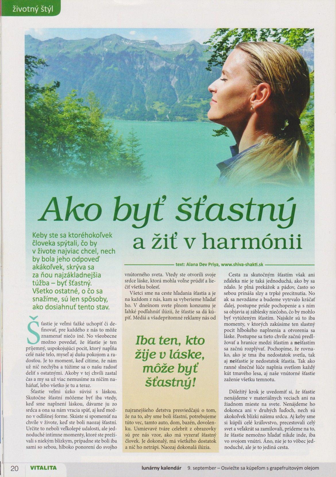 Ako byť šťastný a žiť v harmónii