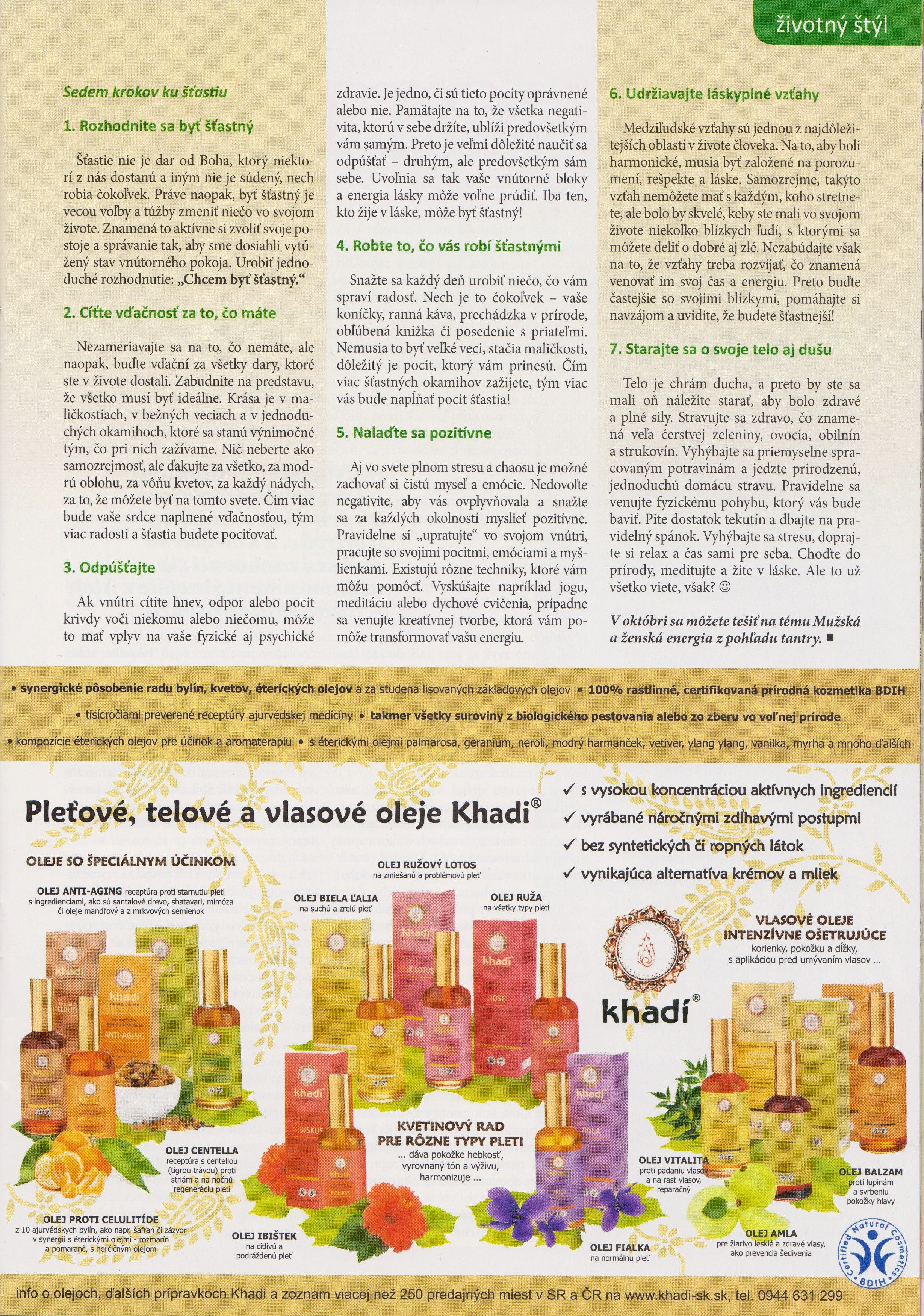 Vitalita 9_2015 - Ako byť šťastný a žiť v harmónii, str.2