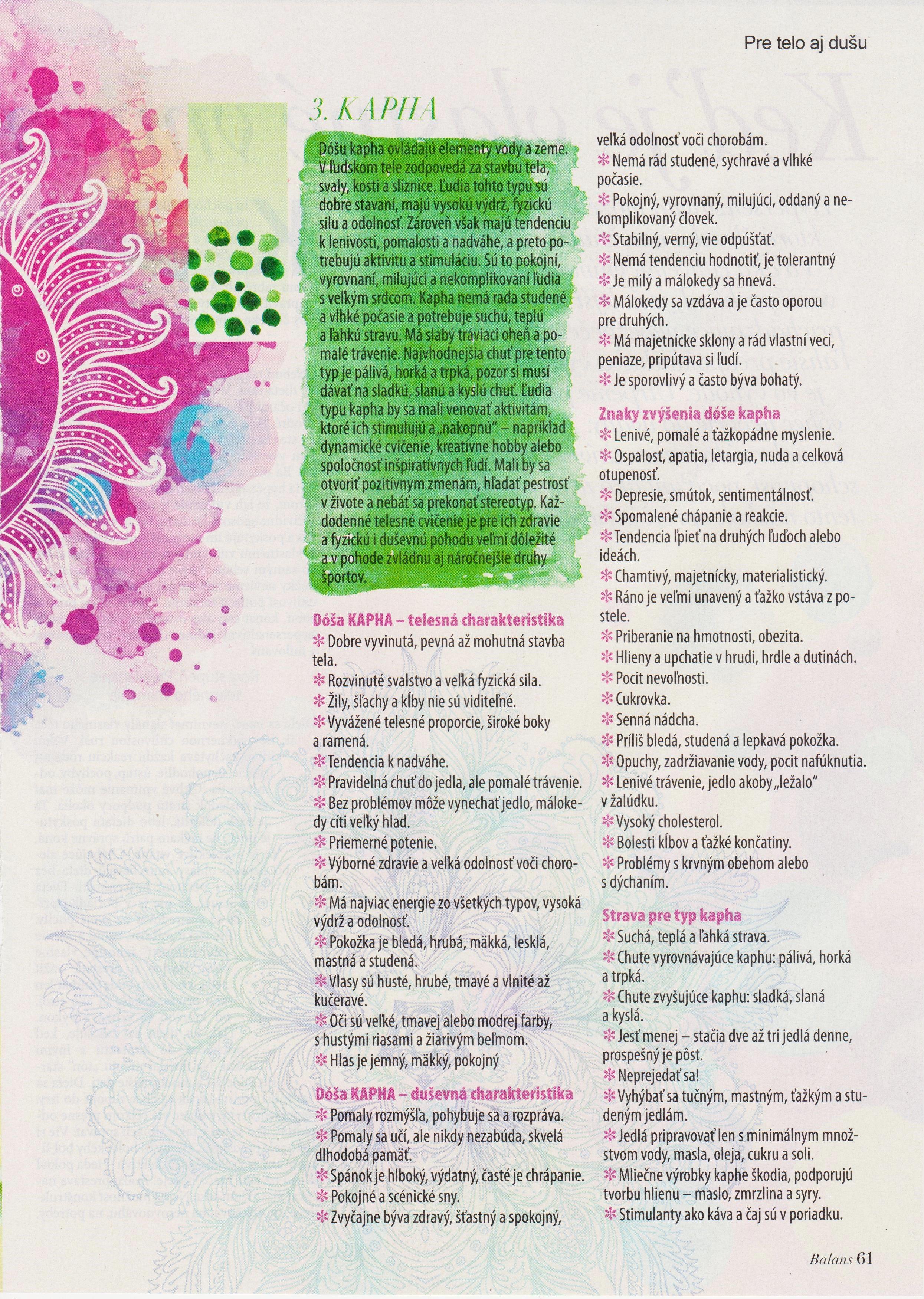 Typy podľa ajurvédy - str.4