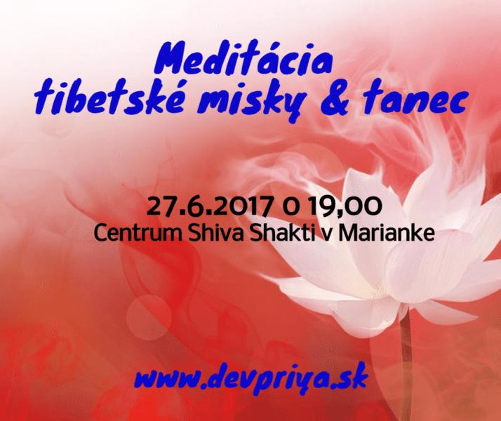 Meditácia tibetské misky & tanec