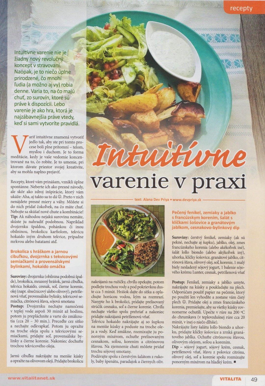 Intuitívne varenie v praxi (recepty)