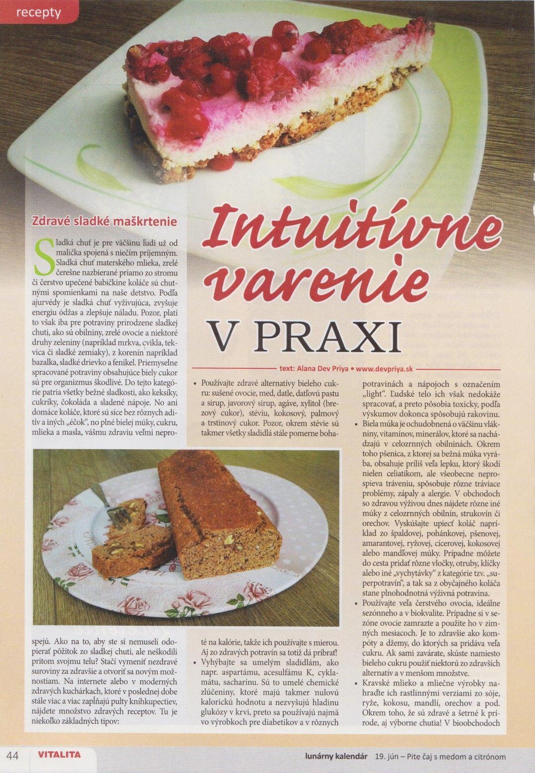 Intuitívne varenie v praxi – Zdravé sladké maškrtenie