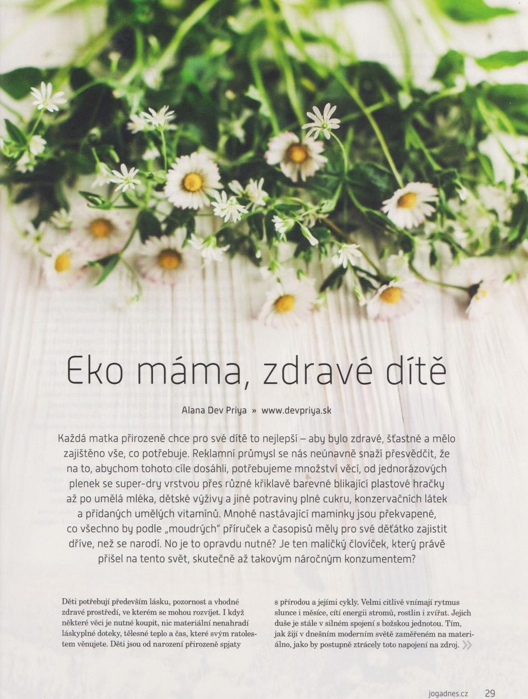 Eko máma, zdravé dítě