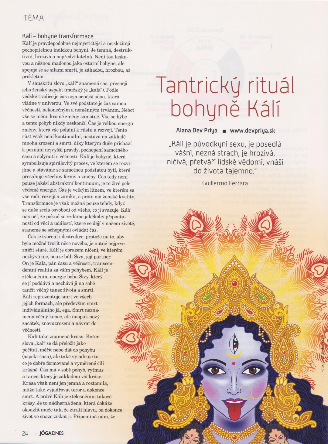 Tantrický rituál bohyne Kálí
