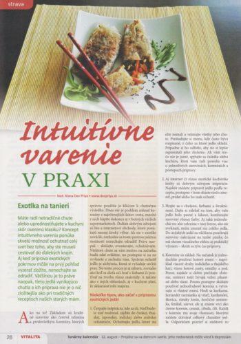 Intuitívne varenie v praxi – Exotika na tanieri