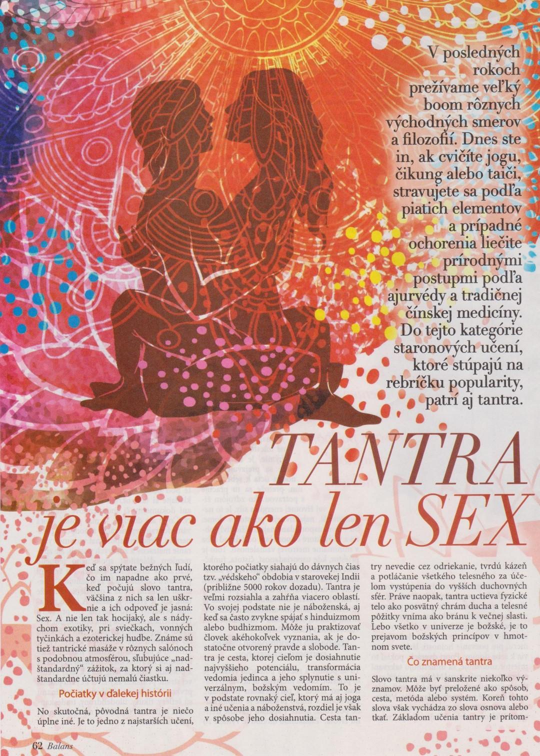 Tantra je viac ako len sex